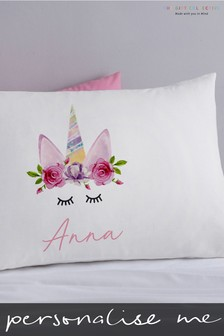 Personalised Unicorn Wreath Pillowcase By Gift Collective
