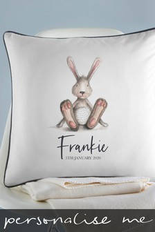 Personalised Baby Bunny Cushion By Gift Collective