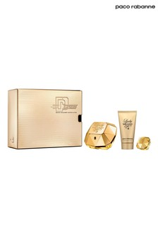 Paco Rabanne Lady Million Eau De Parfum 50ml and Body Lotion 75ml and Mini 5ml Gift Set