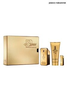 Paco Rabanne 1 Million Eau De Toilette 50ml and Shower Gel 100ml and Mini 5ml Gift Set