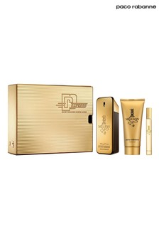 Paco Rabanne 1 Million Eau De Toilette 100ml and Shower Gel 100ml and Travel Spray 10ml Gift Set