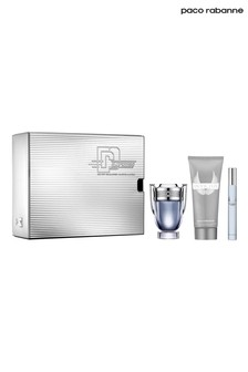 Paco Rabanne Invictus Eau De Toilette 50ml and Shower Gel 100ml and Travel Spray 10ml Gift Set