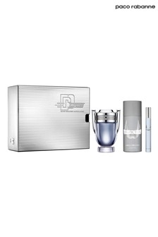 Paco Rabanne Invictus Eau De Toilette 100ml and Deodorant 150ml and Travel Spray 10ml Gift Set