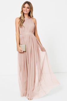 Anaya With Love Bow Back Halter Neck Maxi Dress