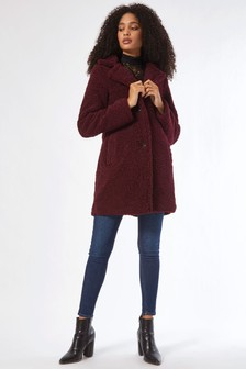 Dorothy Perkins Long Length Teddy Coat