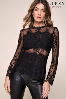 Lipsy Sheer Lace Blouse