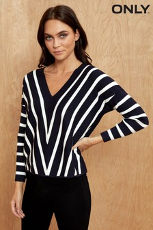 Only Chevron Stripe Jumper