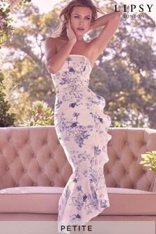 Lipsy Petite Linen Belted Midi Dress