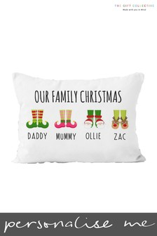 Personalised Family Christmas Cushion By Gift Collective