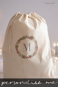 Personalised Initial Santa Sack By Gift Collective