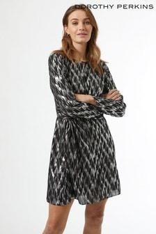 Dorothy Perkins Metallic Print Mini Dress
