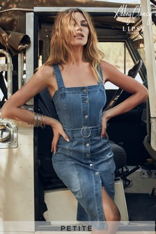 Abbey Clancy x Lipsy Petite Bodycon Belted Denim Dress
