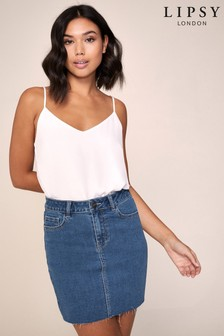 Lipsy Denim Mini Skirt