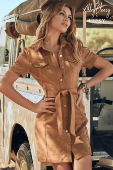 Abbey Clancy x Lipsy Suedette Utility Dress