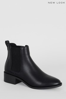 New Look Leather Look Chelsea Boots