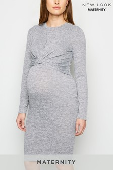 New Look Maternity Fine Knit Twist Nursing Dress