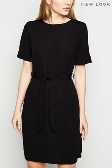 New Look Crepe Belted Tunic Dress