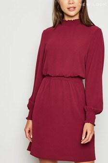 New Look Shirred Neck Mini Dress