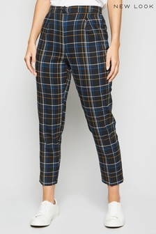 New Look Check Slim Leg Trousers