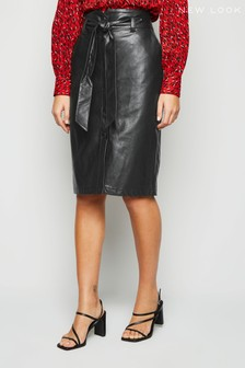 New Look PU Paperbag Pencil Skirt