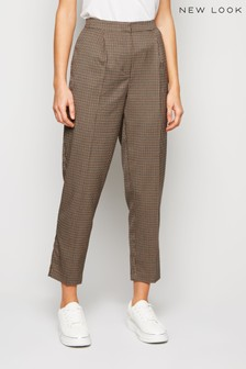 New Look Check Slim Leg Trouser