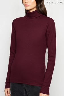 New Look Ribbed Roll Neck Jersey Jumper