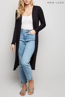 New Look Fine Knit Rib Longline Cardigan