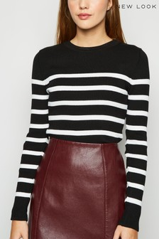 New Look Stripe Crew Neck Jumper