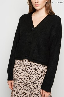New Look Knit Patch Pocket Cardigan
