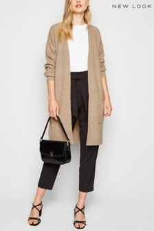 New Look Ribbed Longline Cardigan