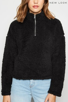 New Look Teddy Half Zip Sweatshirt