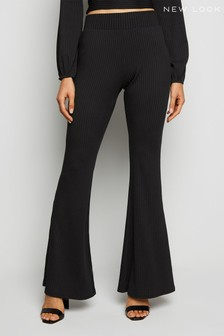 New Look Ribbed Flare Trousers