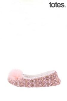 Totes Fairisle Knitted Ballet Slipper