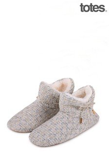 Totes Tweed Boot Slipper