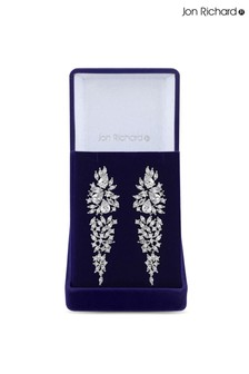 Jon Richard Bridal Clear Cubic Zirconia Elizabeth Drop Earring