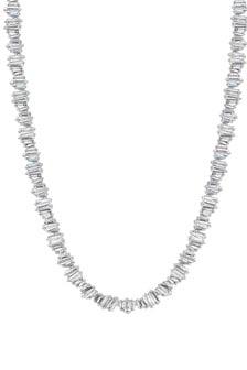 Jon Richard Bridal Crystal Allway Baguette Necklace