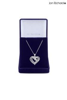 Jon Richard Bridal Plated Clear Cubic Zirconia Heart  Short Pendant Necklace