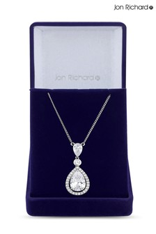 Jon Richard Cubic Zirconia Peardrop Pendant Necklace