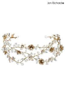 Jon Richard Bridal Haarschmuck mit floralem Rankendesign und Kristallen