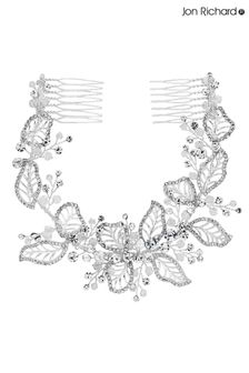 Jon Richard Bridal Clear Crystal Olivia Pave Leaf Double Comb Hair