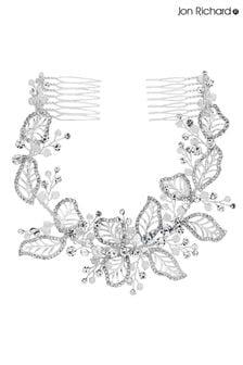 Jon Richard Bridal Olivia Haarschmuck mit zwei Kämmen, Blätterdesign und Kristallverzierung