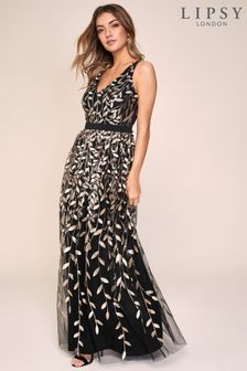 Lipsy Sequin Embroidered Maxi Dress