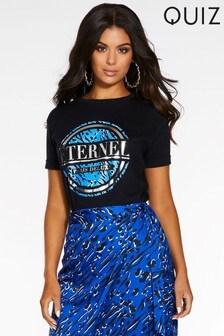 'Éternel' bedrucktes T-Shirt von Quiz