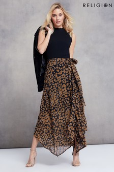 Religion Asymmetric Skirt