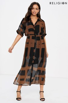 Religion Oberservation Maxi Shirt Dress