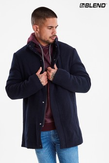 Blend Wool Car Coat