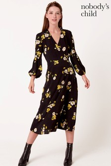 Nobody's Child Floral Midi Dress