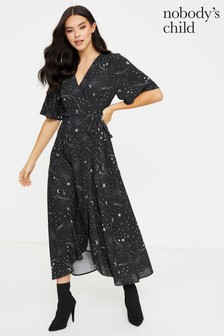 Nobody's Child Willow Midi Wrap Dress
