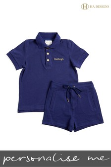 Personalised Mini Boys Short Top And Short Set By HA Designs
