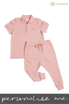 Personalised Mini Girls Short Top And Trouser Set By HA Designs